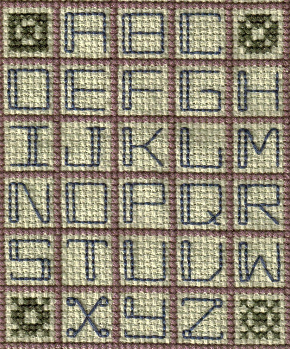 Free Cross Stitch And Back Stitch Alphabet Patterns