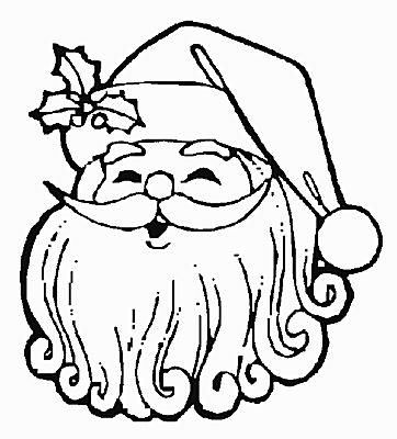 print free santa claus coloring pages this christmas - Coloring Pages Christmas