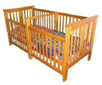 Unique And Practical Double Cribs For Twins