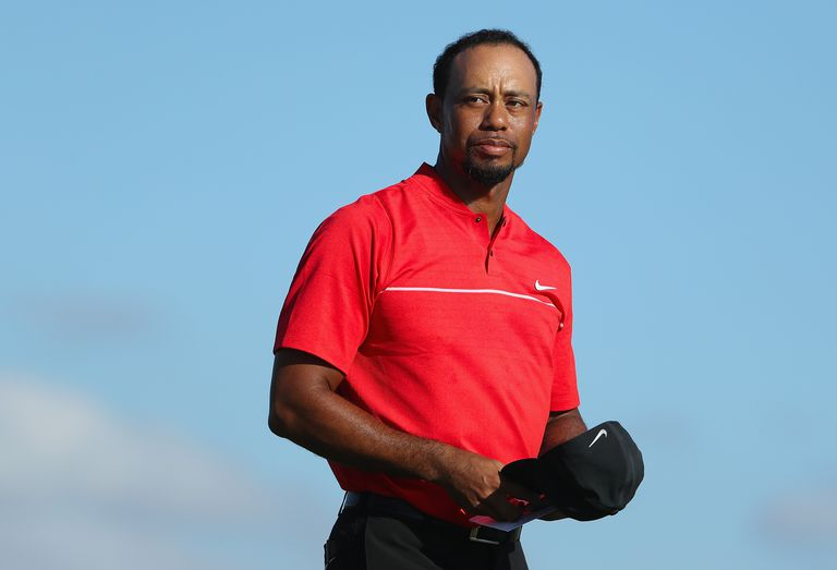 Tiger Woods at the Hero World Challenge