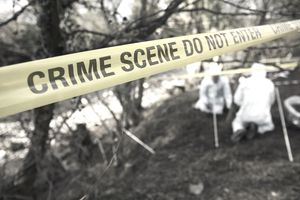 UK - Crime - Scene Investigators Searching Grave Site