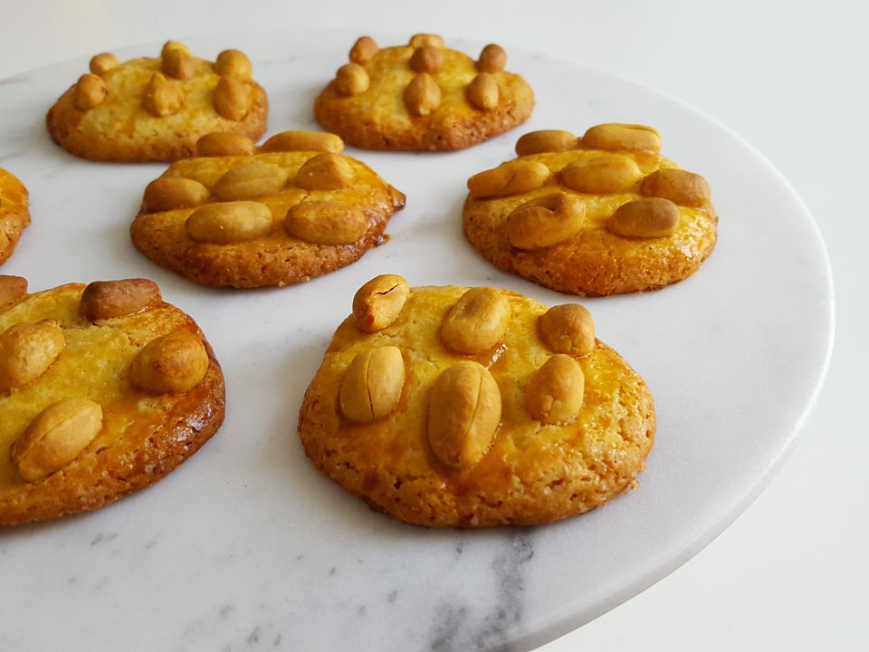 Peanut-studded cookies from Holland