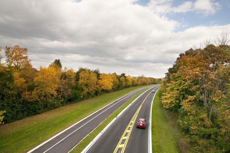 Fall Road in Niagara Falls